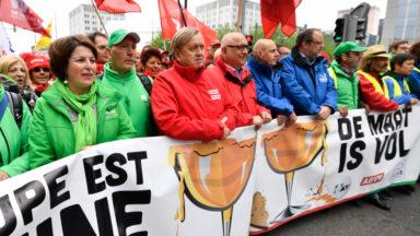 """Les syndicats manifestent pour un """"accord interprofessionnel juste"""""""