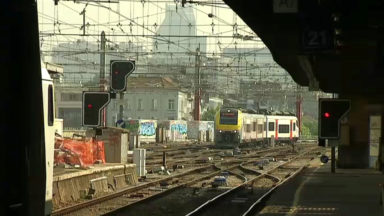 Rail: 450 schémas de train perturbés lundi à cause de gens sur les voies à Bruxelles