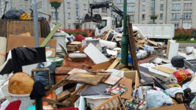 Inondations : opération «encombrants» dans le quartier Machtens à Molenbeek