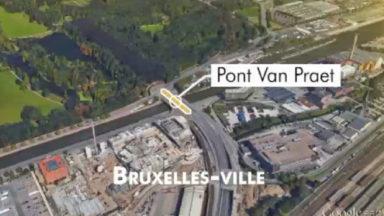 Pont Van Praet: un accident avec un camion provoque des ralentissements de circulation
