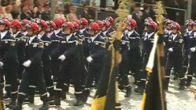 Défilé : les pompiers mis à l'honneur après les attentats