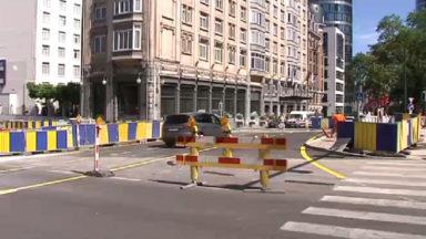 Place Rogier : le trafic dévié suite aux travaux de rénovation du tunnel