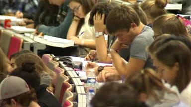 Des étudiants protestent contre l'augmentation du minerval hors UE