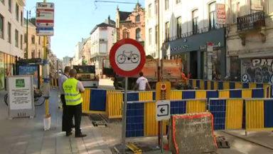 Chantier de la chaussée d'Ixelles: réaménagement de la voirie entre la chaussée de Wavre et rue de la Paix dès mercredi