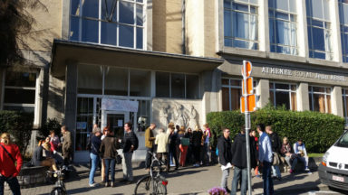 Etterbeek : grève en front commun à l'athénée Jean Absil pour dénoncer la surpopulation