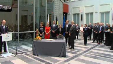 Le roi Philippe en visite de travail au Parlement de la Fédération Wallonie-Bruxelles