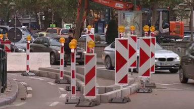 Rond-point Louise : les blocs de béton retirés au profit d'un aménagement plus esthétique