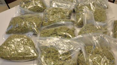 Molenbeek : onze kilos de résine de cannabis trouvés chez un dealer