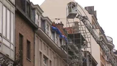 Etterbeek : impressionnant incendie de toiture, pas de blessé