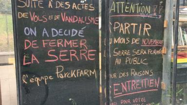 Victime de vandalisme, Parckfarm ferme sa serre