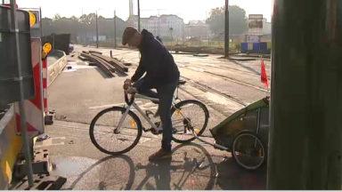 Gymkhana pour les cyclistes et les piétons Porte de Ninove