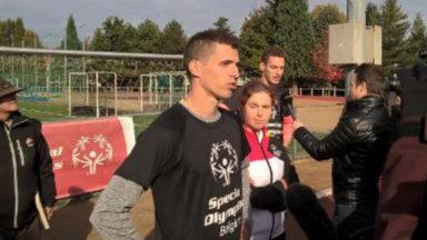 Les frères Borlée courent avec des athlètes Special Olympics