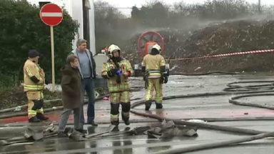 Forest : l'incendie à Bruxelles-Compost sous contrôle