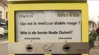 Etterbeek : ceci est un cendrier ludique
