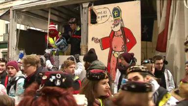 Des milliers d'étudiants bruxellois fêtent la Saint-Nicolas