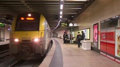 La circulation des trains interrompue entre Bruxelles-Midi et Bruxelles-Nord à cause d'un incendie