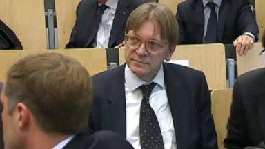 Guy Verhofstadt est candidat à la présidence du Parlement européen