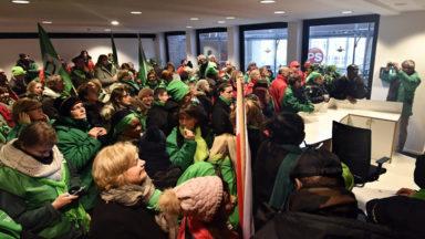 Rassemblement de 200 militants du secteur non-marchand à Bruxelles