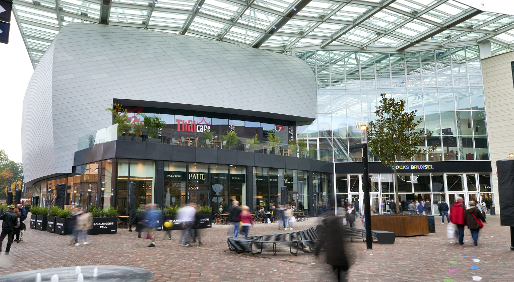 BRUSSELS, BELGIUM, 20 OCTOBER 2016: The new shopping district Docks Bruxsel, Official opening Thuesday 20 October 2016