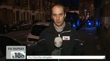 Incendie à Schaerbeek : 8 familles relogées