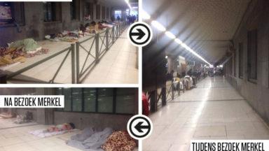 Bruzz dévoile une Gare du Midi avant et après le passage de Merkel