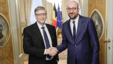 Bill Gates à Bruxelles pour défendre sa fondation