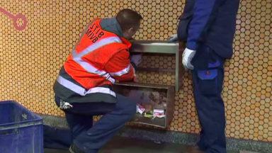 La Stib enlève les poubelles solides dans les stations de métro