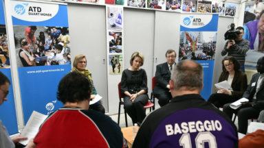 Etterbeek: La reine Mathilde a visité la Maison Quart Monde