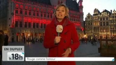 La couleur de l'amour illumine l'Hôtel de Ville de Bruxelles
