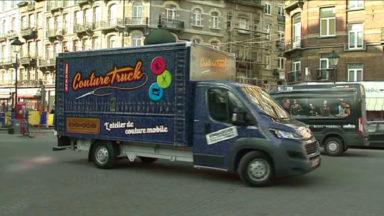 Inauguration du «couture truck» sur le marché de Saint-Gilles