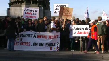 Manifestation des travailleurs sociaux contre la levée du secret professionnel