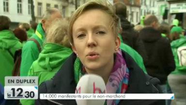 Non-marchand : plus de 14.000 personnes dans les rues de Bruxelles