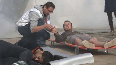 MSF organise une simulation d'explosions et d'évacuation de victimes