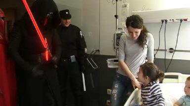 Les personnages de Star Wars à l'Hôpital des enfants Reine Fabiola