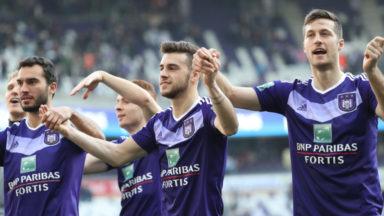 Anderlecht champion de la saison régulière pour la 5e fois en 8 ans