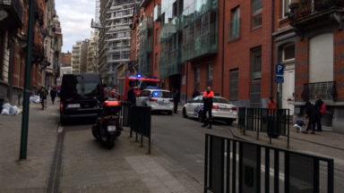 Evacuation de la section maternelle de l'école Catteau Aurore