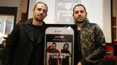 Mike & Dimitri Vegas remportent le deuxième Ultratop Streaming Award