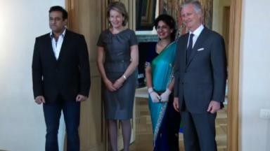 Nidhi, l'hôtesse de l'air indienne victime des attentats du 22 mars, reçue par le couple royal