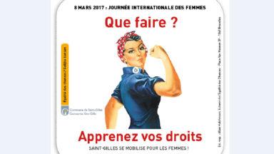 Saint-Gilles : des sous-verres illustrent la lutte pour les droits de femmes