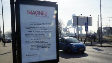 70 panneaux publicitaires détournés à Bruxelles