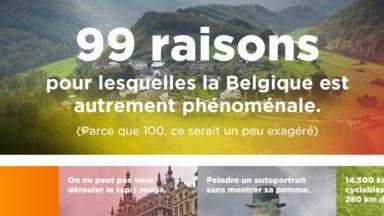 «Autrement phénoménale» : Une campagne fédérale pour soutenir «l'image positive de la Belgique»