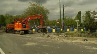 Le chantier du boulevard de la Woluwe a repris