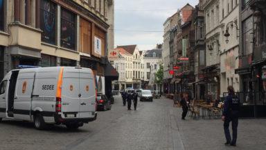 Bruxelles: un colis suspect retrouvé entre la rue du Marché aux Poulets et le piétonnier