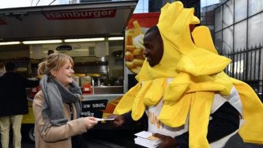 Les frites à l'honneur pour la première action de la campagne de promotion de la Belgique