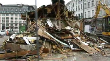 Etterbeek : la friterie Antoine a été démolie pour faire place à un futur nouveau pavillon