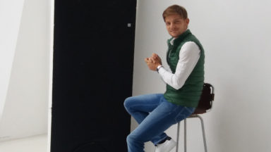 David Goffin en « shooting » photo à Ixelles