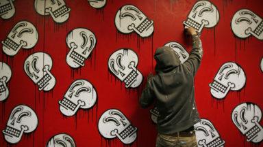 Ixelles : une ancienne salle de sport investie par Joachim, artiste de street art