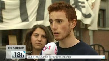 ULB : l'occupation du rectorat prolongée ce week-end