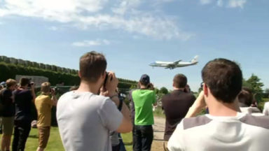 Les spotters sont venus en nombre pour voir l'atterrissage d'Air Force One