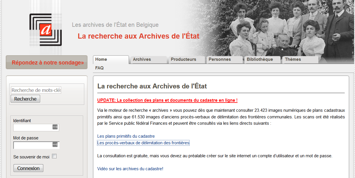 Archives Cadastres